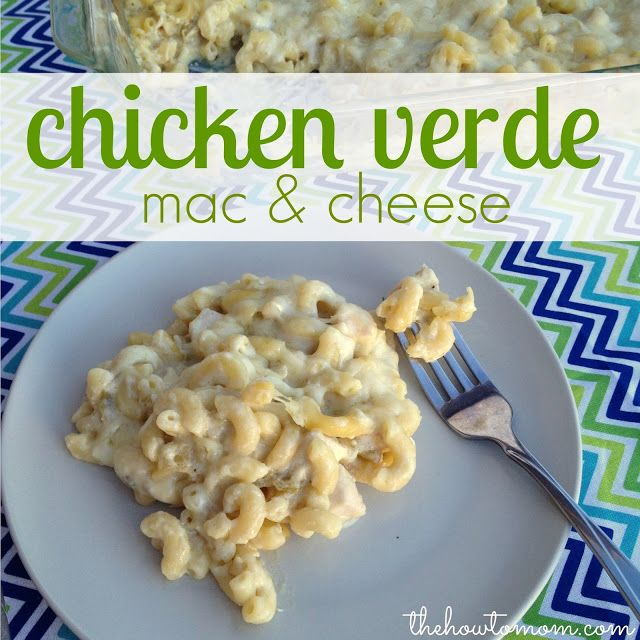 Chicken Verde Mac and Cheese - all the flavors of sour cream chicken enchiladas verde, with only 6 ingredients and its ready in 30 mins! YUM!