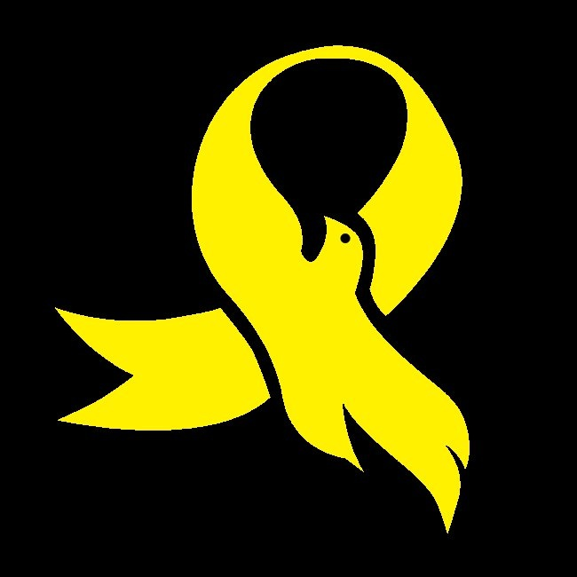 yellow ribbon for suicide prevention, dove for inner peace