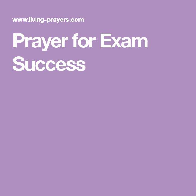 Prayer for Exam Success