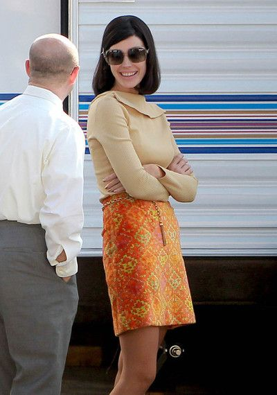 Via Mad Men Daily - Megan's looking good for the upcoming season.