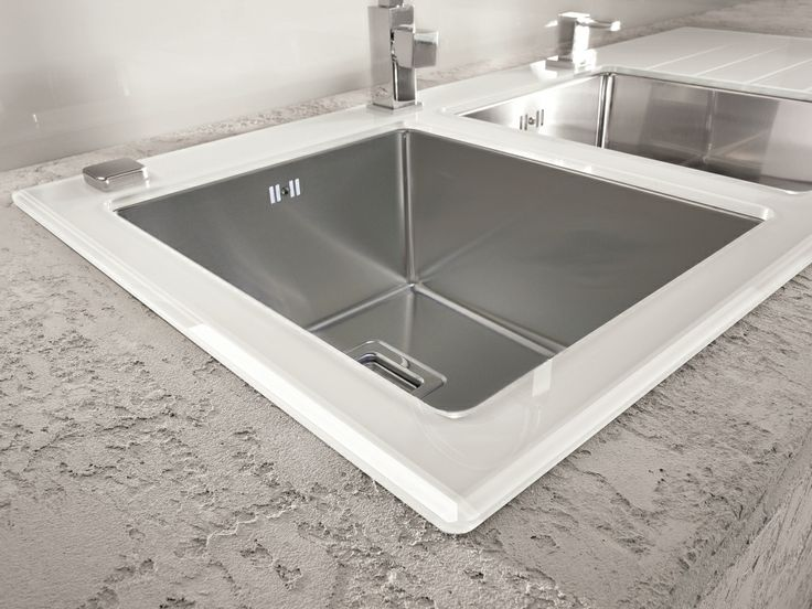 alveus crystalix 20 inset sink glass stainless steel. beautiful ideas. Home Design Ideas