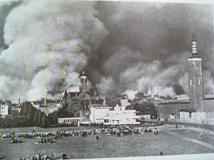 Bombs on Rotterdam