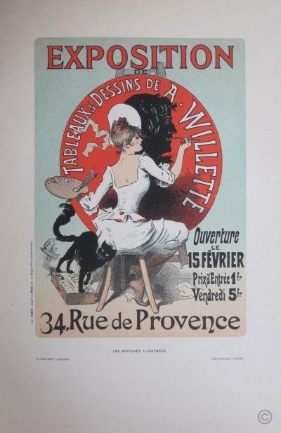 Exposition A Willette http://www.parisposters.com/vintage-poster/willette-adolphe/AFI+124_exposition-a-willette.html  Artist: Willette Adolphe  Tags: Les Affiches Illustrées,   Date : Ca 1890
