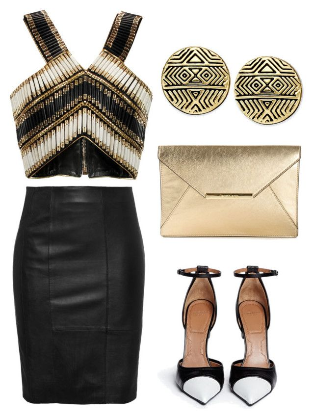 Untitled #8 by marce-castaneda on Polyvore featuring polyvore, fashion, style, Balmain, Givenchy, MICHAEL Michael Kors and House of Harlow 1960