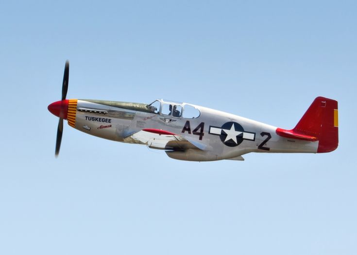 Red Tail Profile, P-51C Mustang of the Tuskegee Airmen, by Chris Buff