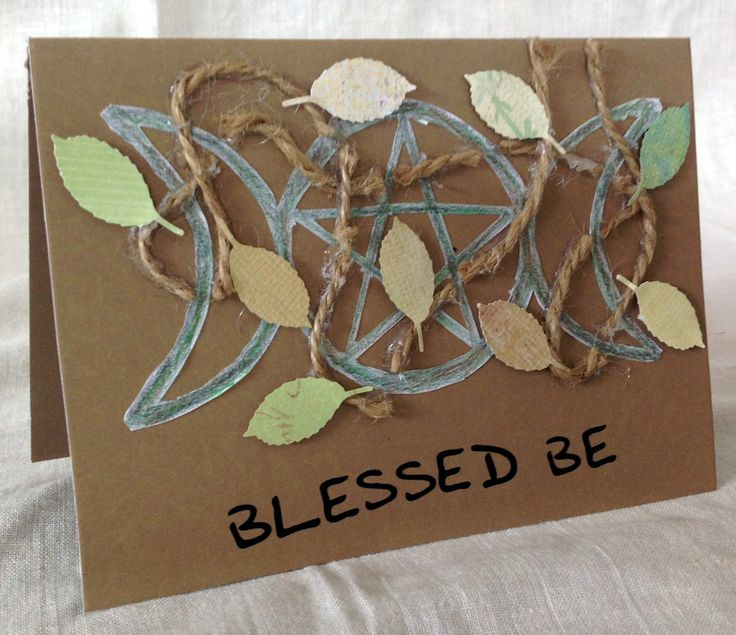 Blessed Be - A Wiccan Pagan Themed Card.  Perfect if you know someone who is Wiccan, or even just for the card!