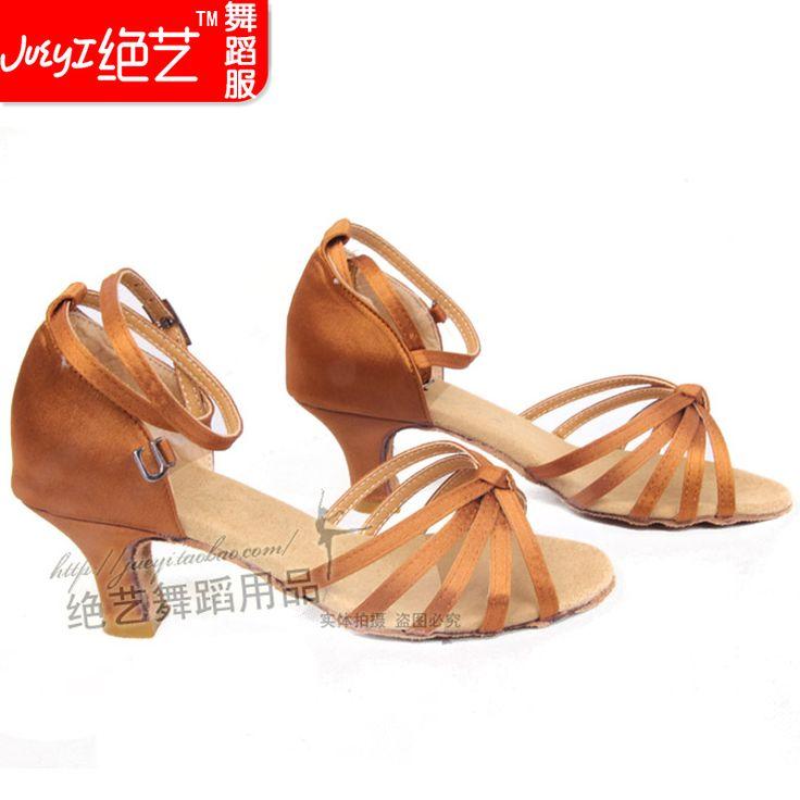 Cetim sapatos de dança latina sapatos de dança latina sapatos de dança latina sapatos das mulheres latino- 15.89