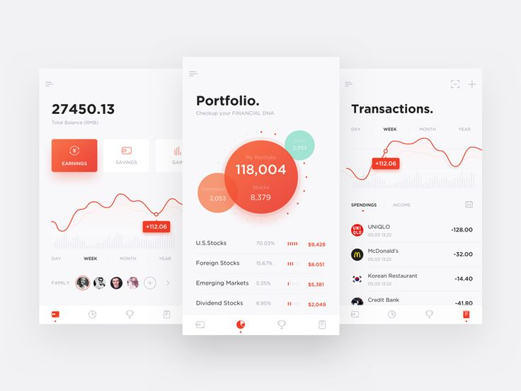 This is a minimalist banking app, designing to help users to manage their both individual and domestic assets.
