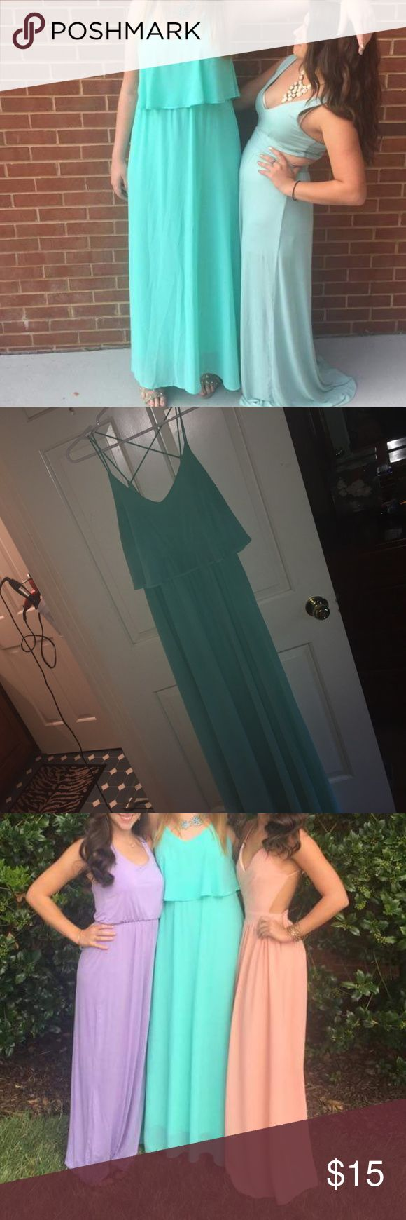 Boutique teal or aquamarine maxi dress Beautiful maxi dress PERFECT condition worn once for recruitment! Everly Dresses Maxi