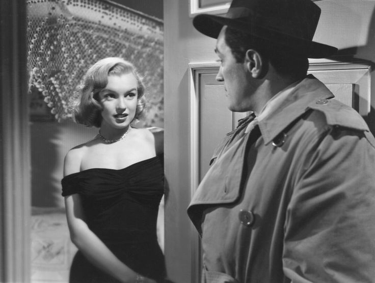 Monroe as gangster's moll Angela in John Huston's The Asphalt Jungle(1950), one of her first performances to be noted by the critics.