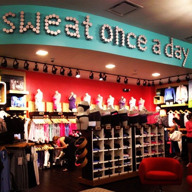 "Sweat once a day! I loved participating at the La Jolla store...and it's definitely a great thing to ""Sweat Once A Day"" via they Lululemon Manifesto"
