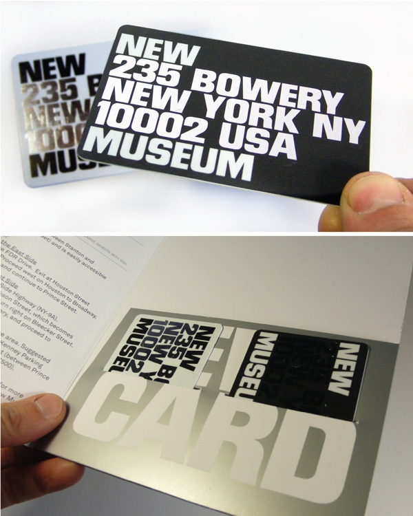New Museum Member Card  Membership Card Design