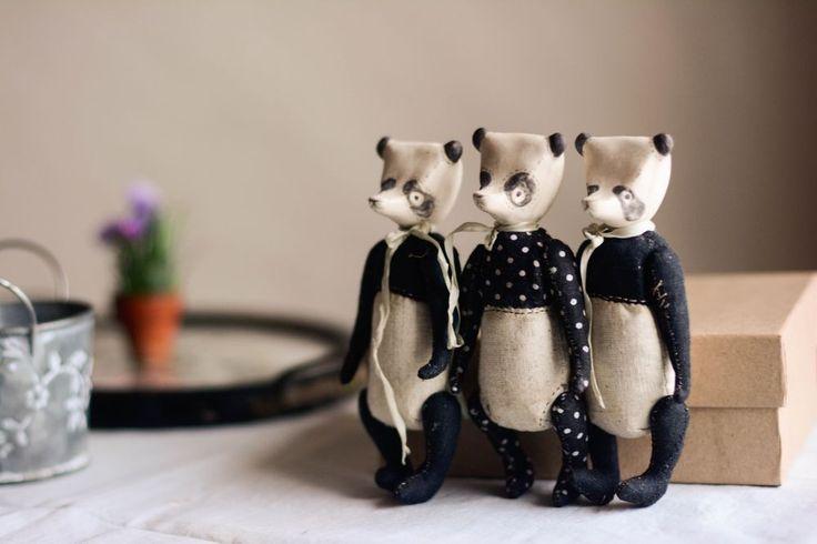 Купить Пандотряд - белый, фарфор, медведь, панда, медвежонок, тедди, мишка, панда тедди