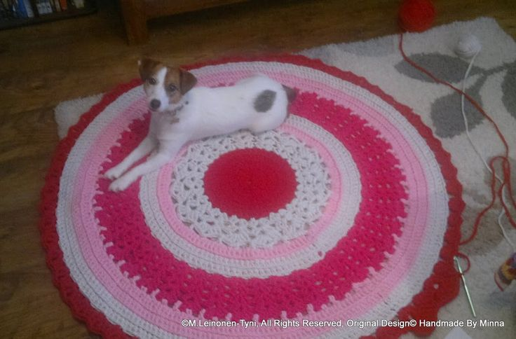 crocheted rug, and owner? <3