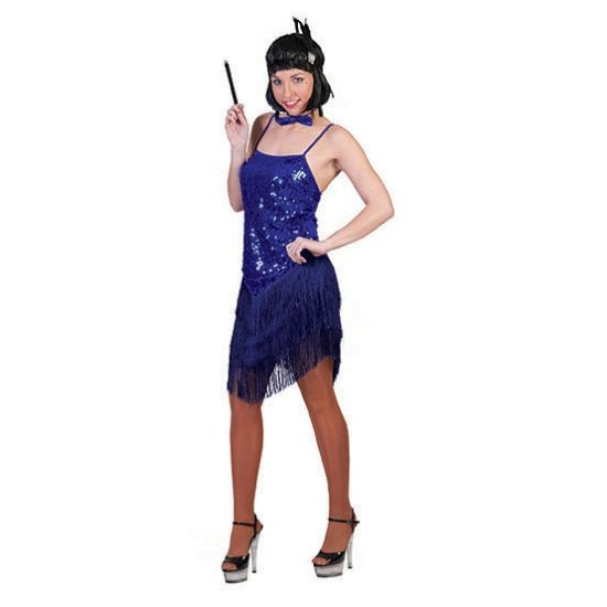 Blauw glitter charleston jurkje  Blauw charleston jurkje voor dames. Blauw feest jurkje voor dames in de stijl van de jaren 20. Met een glitter bovenlijfje en franje rok.  EUR 27.95  Meer informatie