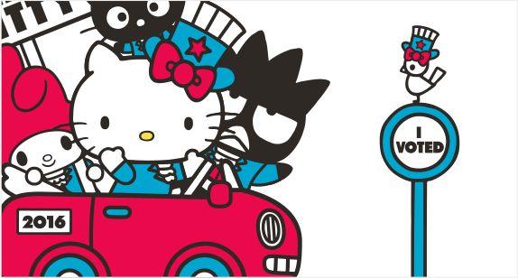 Hello Kitty For President | Sanrio ヾ(@⌒ー⌒@)ノ