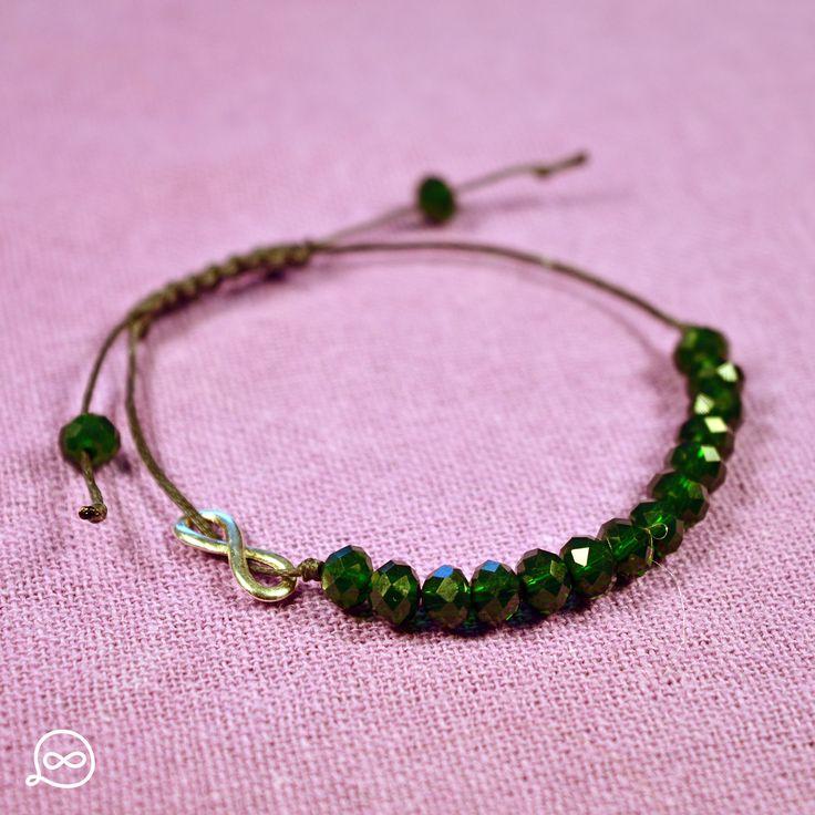 Cypress Green Beads Bracelet. #tufatufa