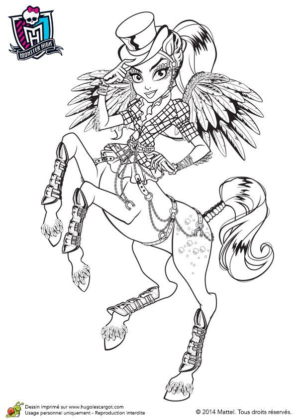 Avea Trotter arrive à Monster High, image à colorier.