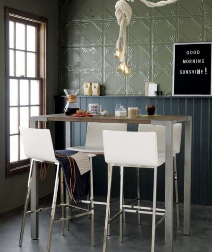 High Top Breakfast Nook Table High Dining Table Top Kitchen
