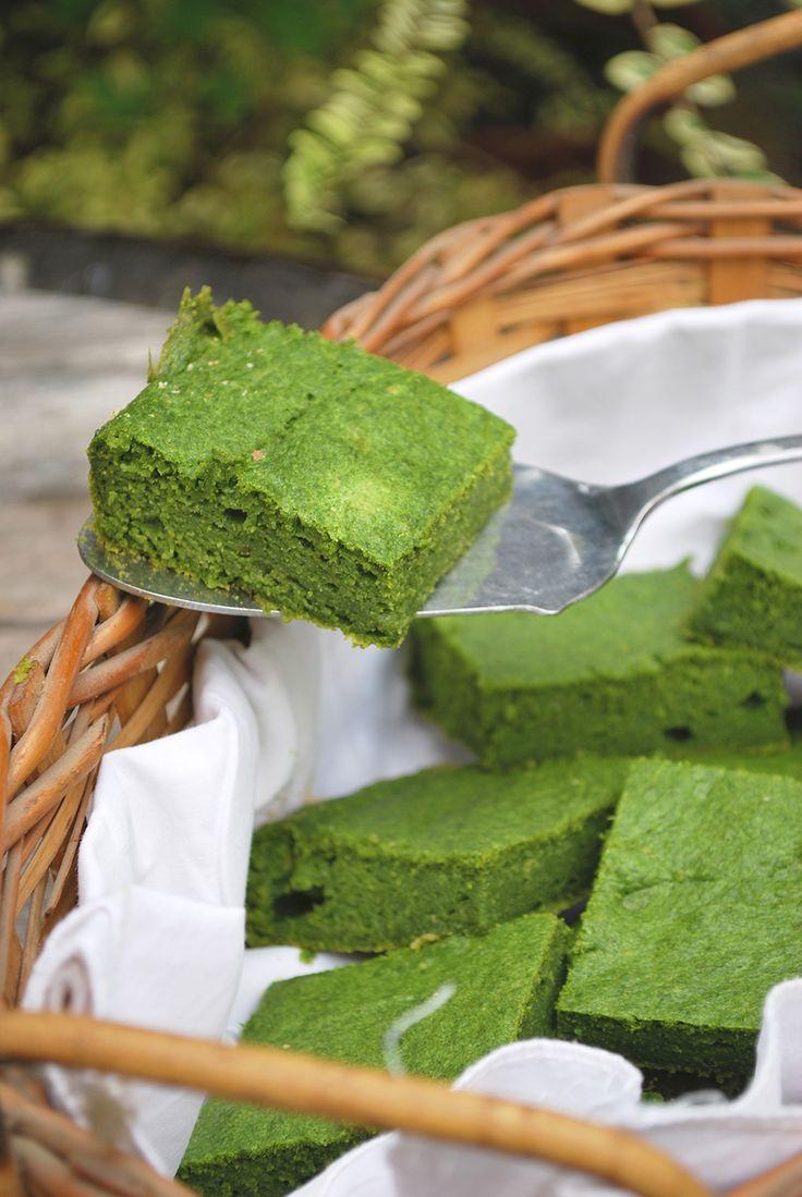 Spinach brownies - no joke! In Italian. Di mostri verdi, americanate e scoppiettanti impasti gioiosi