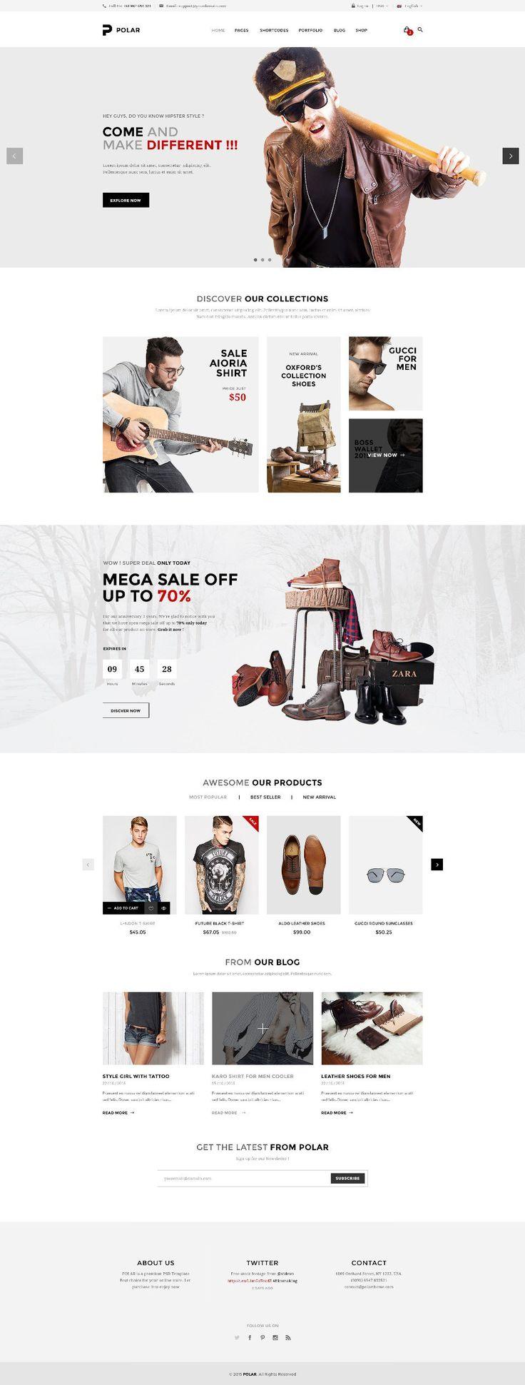 Polar Web Design Inspiration by Loancee