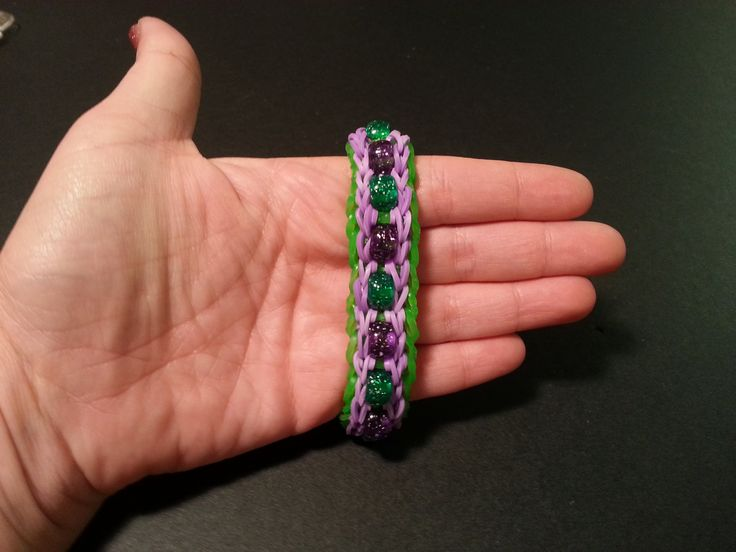 """New """"Delicate Beaded Double"""" Rainbow Loom/ Monster Tail Bracelet/ How To..."""
