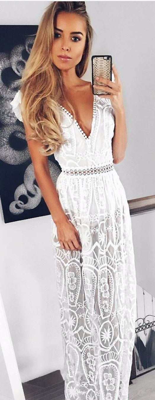 white maxi summer trends