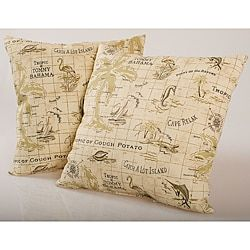 3349shop for beige island map outdoor decorative pillows set of 2
