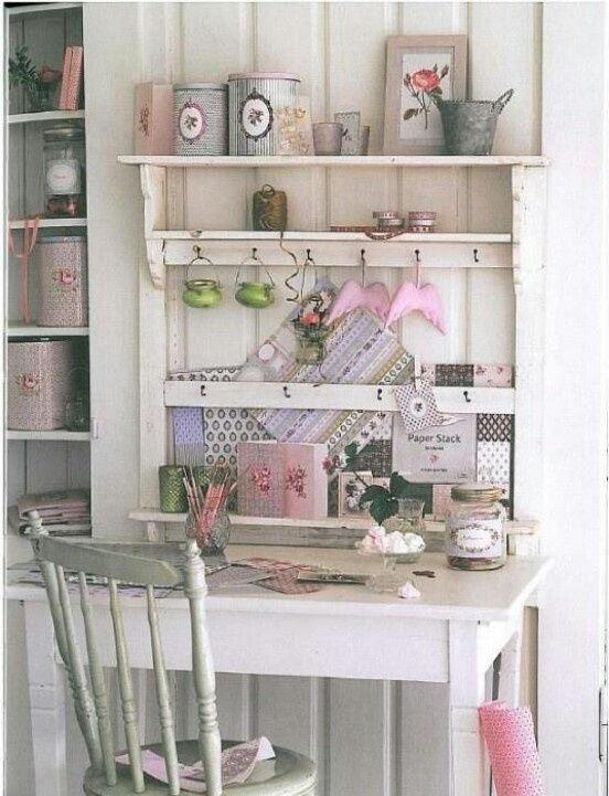 Love this desk and shelves