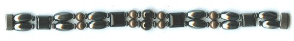 Double Magnetic Therapy  Magnetite Bracelet with Magnetic Clasp, you choose size Bronze accent beads $29.00