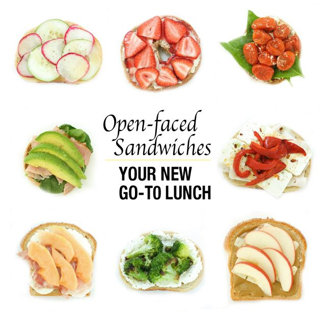 Open Faced Sandwiches. Gonna try some of these on the kids.