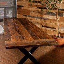 Salvaged Barn wood dining room table