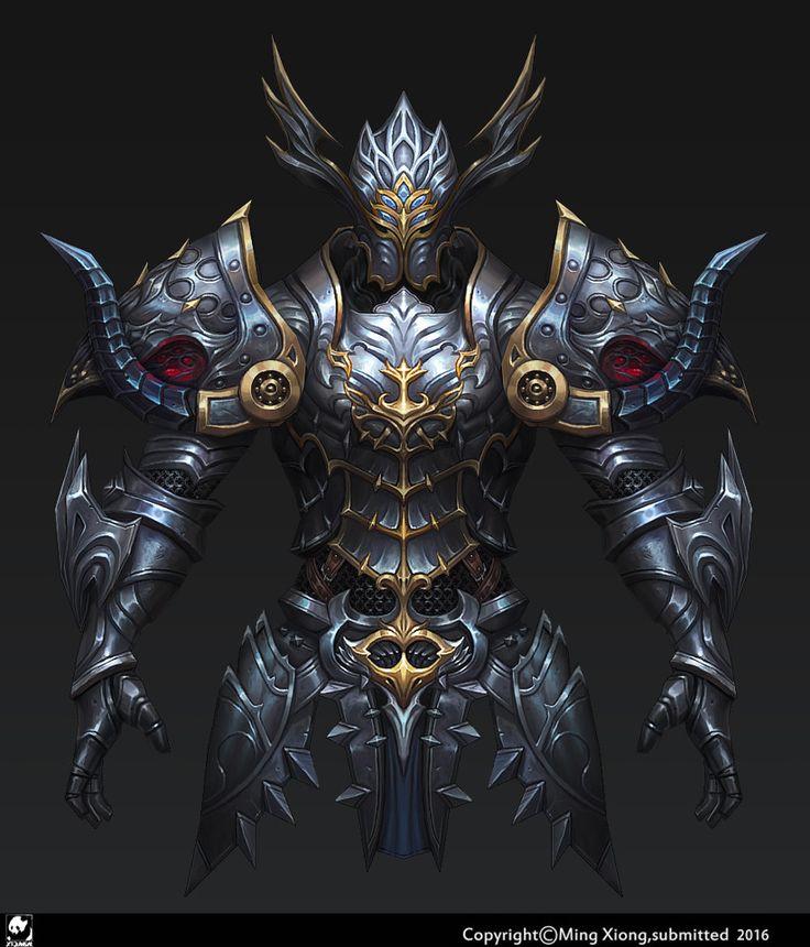 low poly Armor Warrior, jack Ming on ArtStation at https://www.artstation.com/artwork/bBvGn