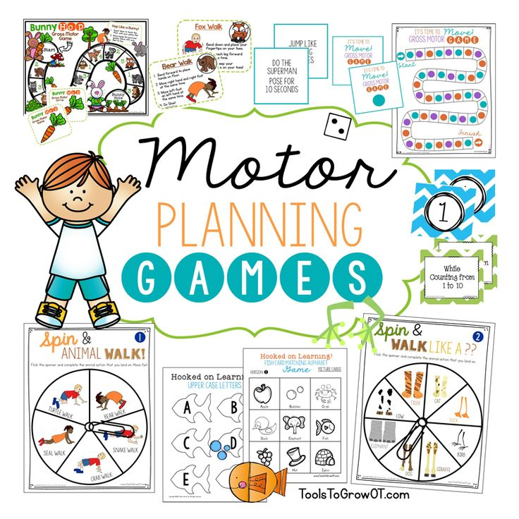 Gross Motor Games! These Gross Motor games and activities improve a child's strength, coordination, motor planning and endurance while having fun!