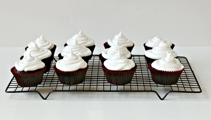 Milk and Honey: Sarsaparilla Cupcakes with Marshmallow Frosting