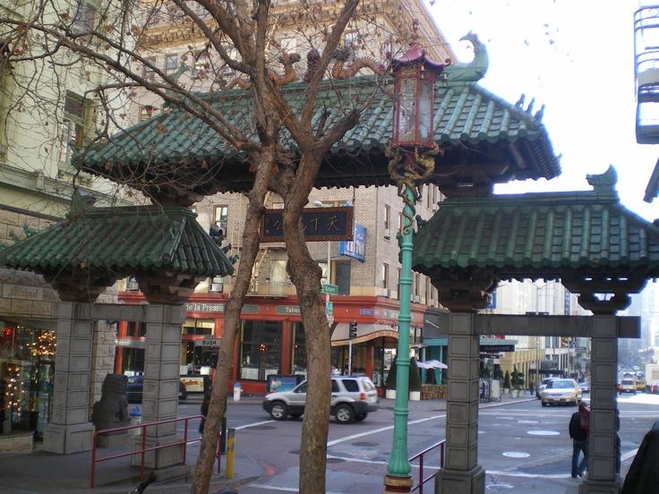 Barrio Chino en San Francisco. Puerta de entrada