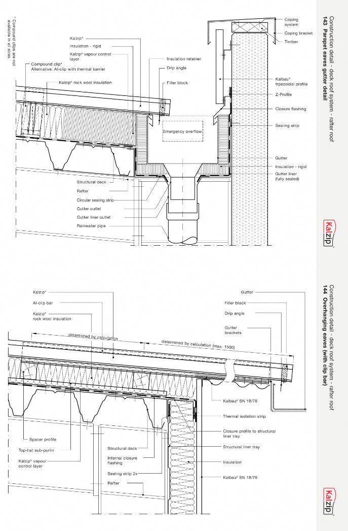This Photo Is Genuinely A Remarkable Design Procedure Whitegutters Construction Details Architecture Roof Detail Gutters