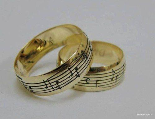 Par de Aliança Notas Musicais