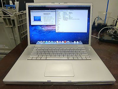 "Apple MacBook Pro 15"" 2008 A1260 Core2 Duo 2.5GHz 4GB RAM 500GB HDD OSX 10.7.5"
