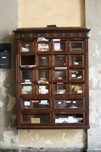 Lovely Wooden Antique Mailbox By Wrote, Via Flickr
