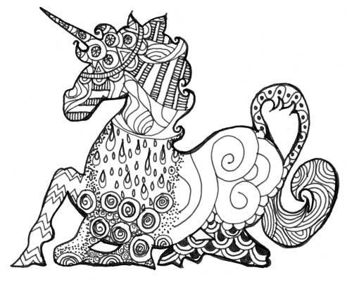 Unicorn drawing | The Rithmatist by Brandon Sanderson ...