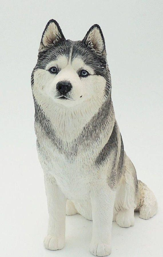 Siberian Husky Sculpture Free Custom Painting Option Model Statue