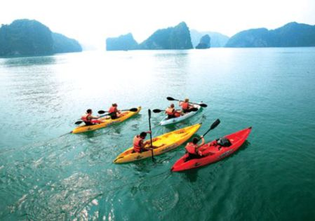 Cat Ba archipelago located in Hai Phong city which consists of 367 small islands include Cat Ba Island (also call pearl island) is the most famous tourist island. With fresh climate, the average temperature is about 25 degrees Celsius, beautiful beaches and pristine forests, Cat Ba island is the wonderful place for both tourists and adventurous.  Read more: http://vietnamsurprise.com/2013/08/attractive-activities-while-traveling-in-cat-ba/#ixzz2buegxnmD