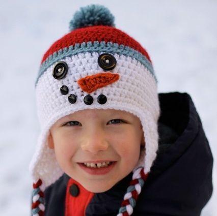 Crochet Snowman Hat -FREE Pattern
