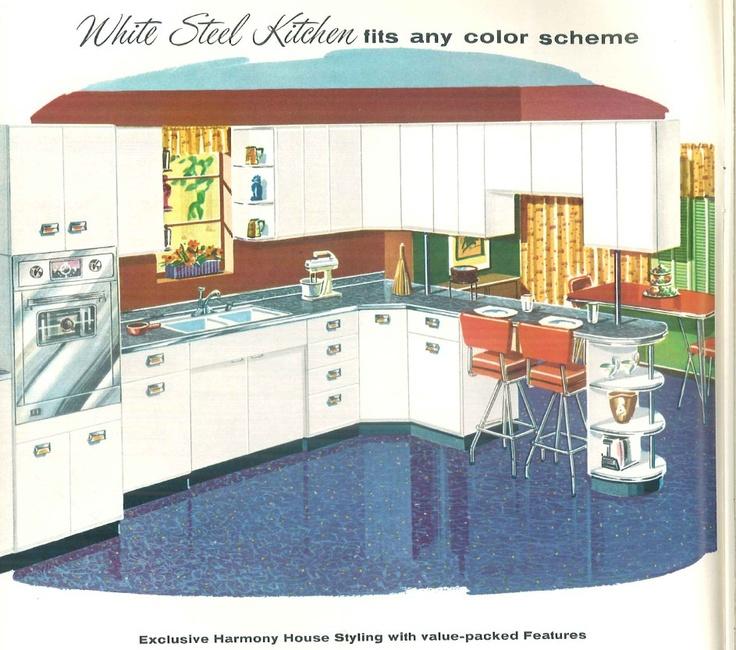 358 Best Vintage Kitchens Images On Pinterest
