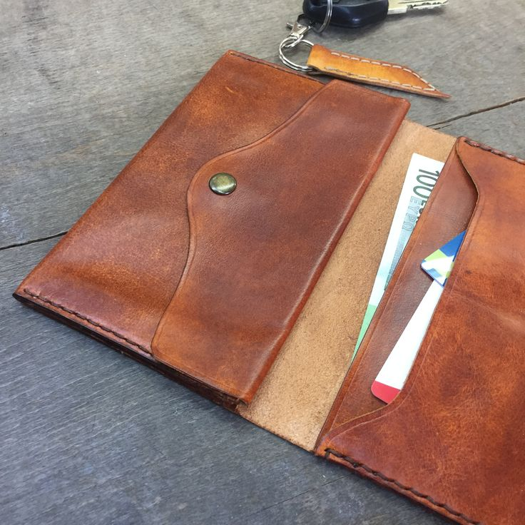 Travel leather wallet organizer/ Brown wallet/ Men's leather wallet/ passport holder/ document organizer/ handmade leather case/ Christmas gift/ checkbook covers #leathercraft  #leatherwallets  #wallets  #document  #travel