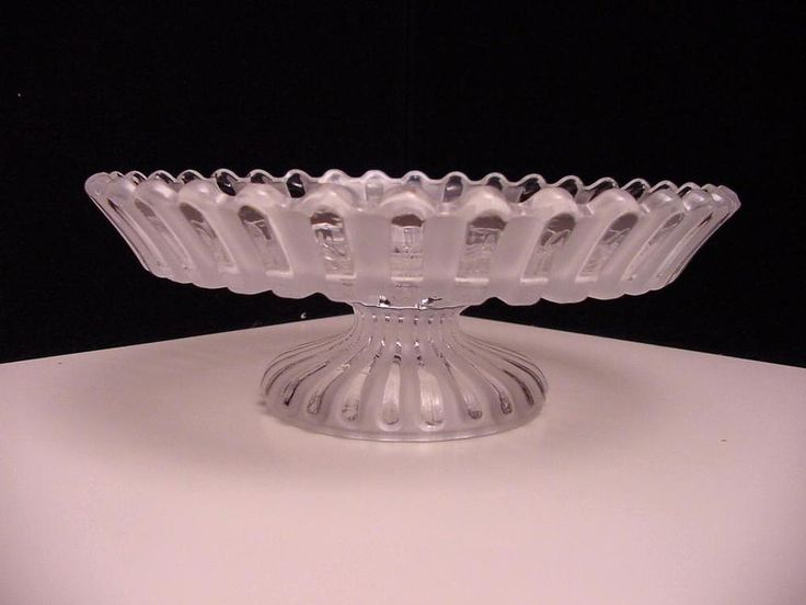 Antique Baccarat pedestal bowl