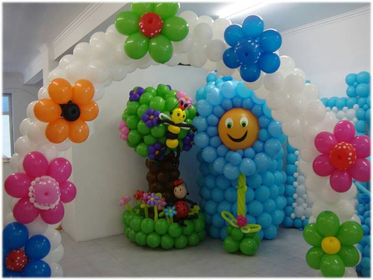 Balloon Decoration For A Baby Shower