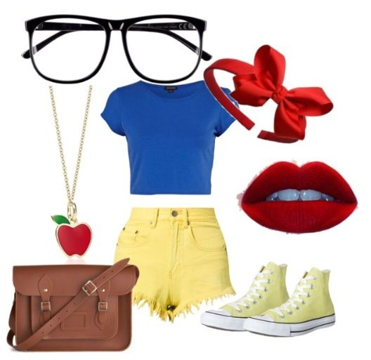 Hipster Snow White inspired outfit. Created by lexieeek on Polyvore.