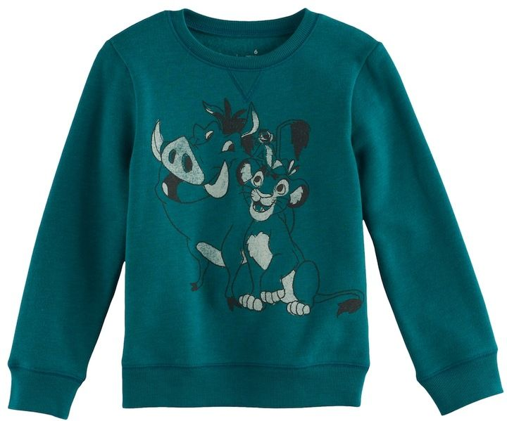 Disney/Jumping Beans Disney's The Lion King Boys 4-7x Timon & Pumbaa Softest Fleece Pullover Sweatshirt by Jumping Beans®
